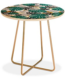 Marta Barragan Camarasa Abstract of Monstera Patterns II Round Side Table