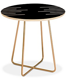 Kelly Haines Geometric Stripes Round Side Table