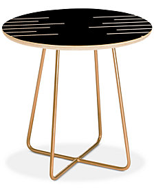 Deny Designs Kelly Haines Geometric Stripes Round Side Table