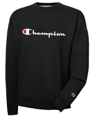 Champion Men/'s Powerblend Pullover Sweatshirt Script Logo Hoodie Black L XL 2XL