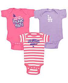 Soft As A Grape Los Angeles Dodgers Huge Fan 3-Piece Set, Infants (0-9 Months)