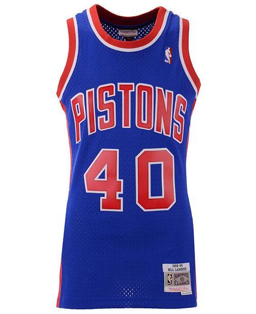 sale retailer 421f2 df818 Men's Bill Laimbeer Detroit Pistons Hardwood Classic Swingman Jersey