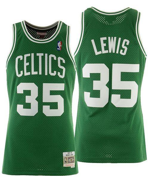 ... Mitchell   Ness Men s Reggie Lewis Boston Celtics Hardwood Classic  Swingman Jersey ... 066f5448e