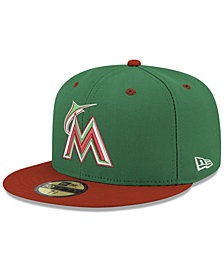 New Era Miami Marlins Green Red 59FIFTY FITTED Cap