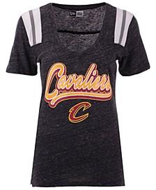 Women's Cleveland Cavaliers Shoulder Stripes T-Shirt