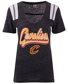 5th & Ocean Women's Cleveland Cavaliers Shoulder Stripes T-Shirt