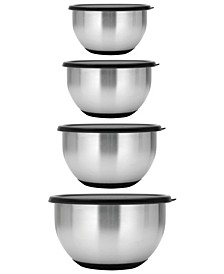 Essentials Collection Geminis Stainless Steel 8-Pc. Mixing Bowl Set