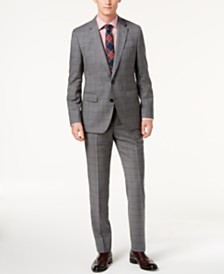 Hugo Boss Men's Modern-Fit Medium Gray Glen Plaid Suit Separates