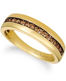 His By Le Vian Chocolate Diamonds® (1/2 ct. t.w.) Band in 14k Gold