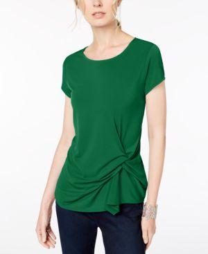I.n.c. Petite Asymmetrical-Twist Top, Created for Macy's