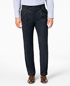 Men's Classic-Fit UltraFlex Stretch Micro-Twill Pleated Dress Pants