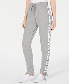 Ultra Flirt by Ikeddi Juniors' Side Lace-Up Jogger Pants