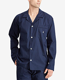 Polo Ralph Lauren Men's Plaid Cotton Pajama Shirt