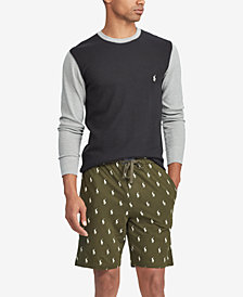 Polo Ralph Lauren Men's Waffle-Knit Sleep Shirt