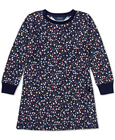 Polo Ralph Lauren Little Girls Floral-Print French Terry Cotton Dress