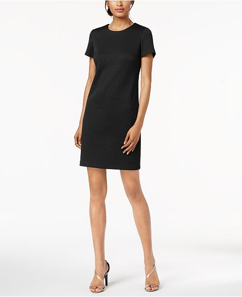 0cf7cf00 Calvin Klein Embossed Floral Sheath Dress & Reviews - Dresses ...
