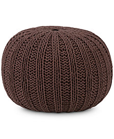 Emons Round Pouf, Quick Ship
