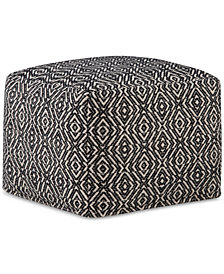 Faiso Square Pouf, Quick Ship