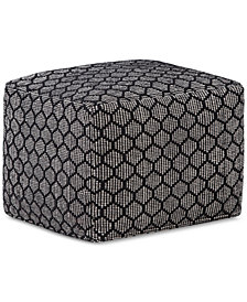 Garrey Square Pouf, Quick Ship