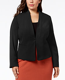 Nine West Plus Size Stand-Collar Jacket