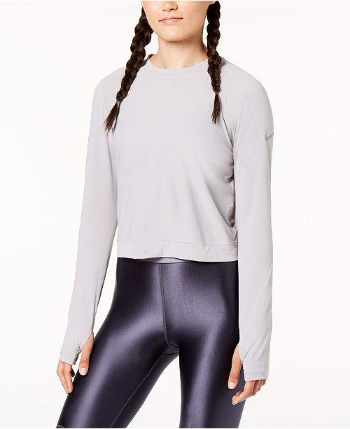 af8348bd Nike Miler Long-Sleeve Running Top & Reviews - Tops - Women ...