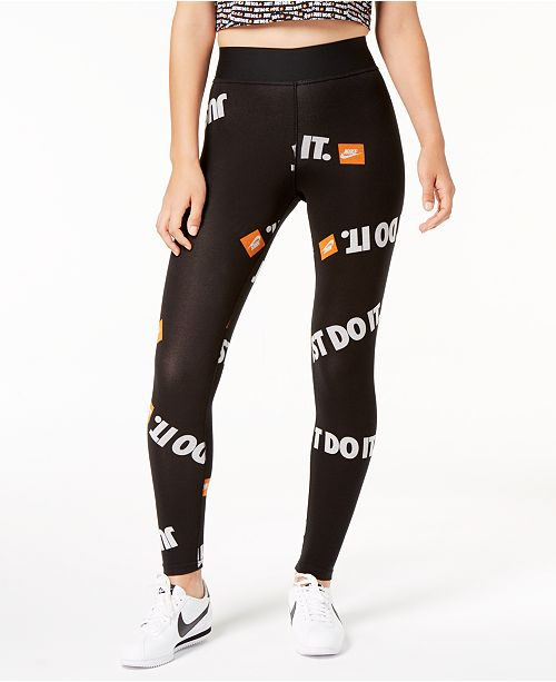 418ff63d41b50f Nike Sportswear Just Do It High-Rise Ankle Leggings & Reviews ...