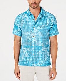 Tommy Bahama Men's Pura Aqua Floral-Print Camp Shirt