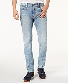 Tommy Hilfiger Men's Slim-Fit Stretch Acid Wash Jeans, Created for Macy's