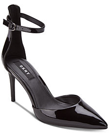 DKNY Lace Ankle-Strap Pumps, Created for Macy's