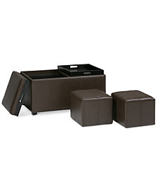Easton 5-Pc. Storage Ottoman, Quick Ship