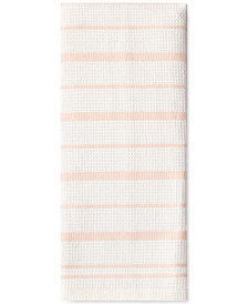 kate spade new york Vintage Stripe Crystal Pink Kitchen Towel