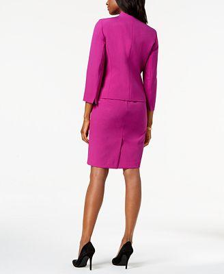 Le Suit Flyaway Jacket Dress Suit Wear To Work Women Macy S