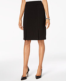 Kasper Pinstriped Pencil Skirt, Regular & Petite Sizes