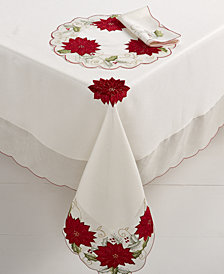 "CLOSEOUT! Homewear  Holly Tinsel 60"" x 140"" Tablecloth"