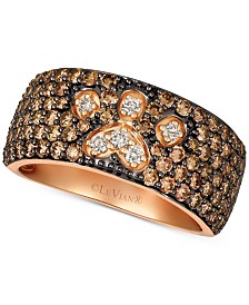 Le Vian® Chocolate & Nude™ Diamond Paw Print Ring (2-1/3 ct. t.w.) in 14k Rose Gold