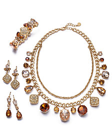 Charter Club Gold-Tone Crystal & Stone Jewelry Separates, Created for Macy's