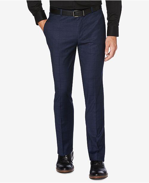 9a7903639c ... Perry Ellis Portfolio Men's Slim-Fit Performance Stretch Windowpane  Plaid Dress Pants ...