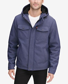 Levi's® Men's Soft Shell Hooded Trucker Jacket with Sherpa Fleece Lining