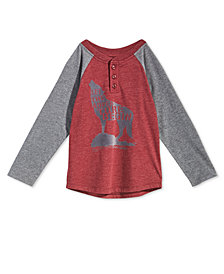 Epic Threads Toddler Boys Graphic-Print Henley T-Shirt, Created for Macy's