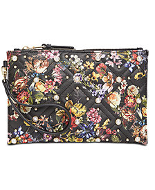 I.N.C. Molyy Quilted Floral Wristlet Clutch, Created for Macy's