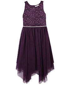 Speechless Big Girls Embellished Handkerchief Hem Dress
