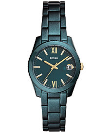 Fossil Women's Scarlette Teal Stainless Steel Bracelet Watch 32mm