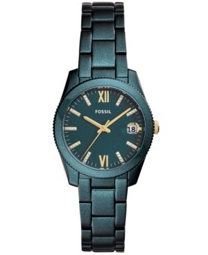 FOSSIL Women'S Scarlette Teal Stainless Steel Bracelet Watch 32Mm in Teal Plating