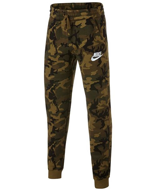 half off dec9f 0e7d6 ... Nike Big Boys Camo-Print Fleece Joggers ...