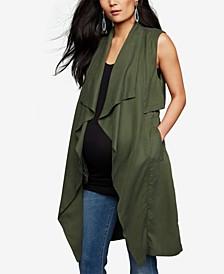 Maternity Draped Vest