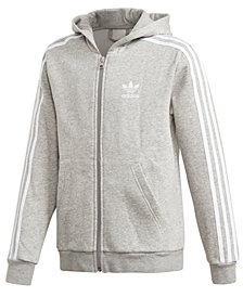 adidas Big Boys Full-Zip Fleece Hoodie