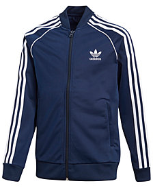 adidas Big Boys Recycled Tricot Jacket