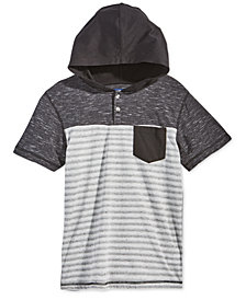 Univibe Big Boys Striped Henley Hoodie