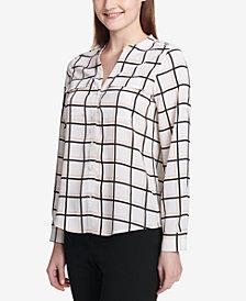 Calvin Klein Dot-Print Utility Shirt
