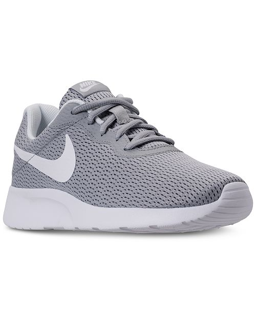 best sneakers fc347 aa61b ... Nike Women s Tanjun Wide Width (2E) Casual Sneakers from Finish ...